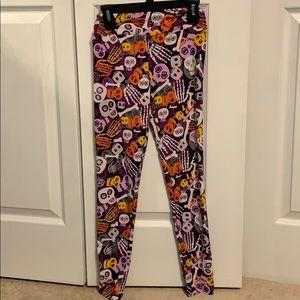 LuLaRoe purple skeleton leggings